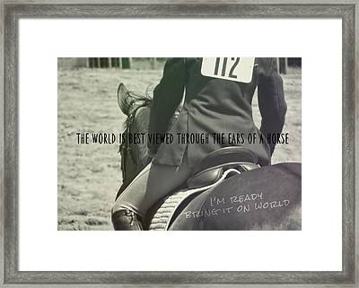 Equitation Quote Framed Print by JAMART Photography