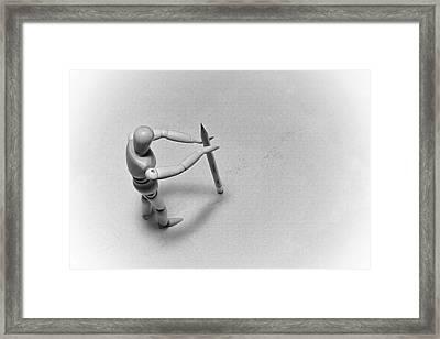 Erasing His Tracks Framed Print by Mark Fuller