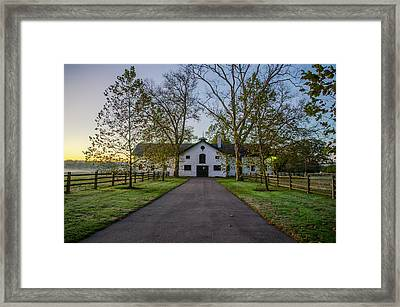 Erdenheim Farm Equestrian Center - Whitemarsh Pa Framed Print by Bill Cannon