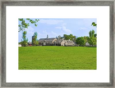 Framed Print featuring the photograph Erdenheim Farm - Whitemarsh Montgomery County Pa by Bill Cannon