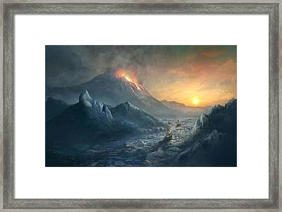 Erebus Mount Framed Print by Guillem H Pongiluppi