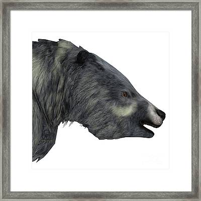 Eremotherium Sloth Head Framed Print by Corey Ford