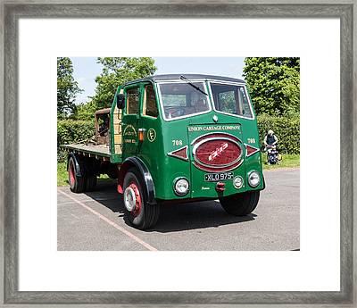 Erf Vintage Truck Framed Print by Nik Bartlett