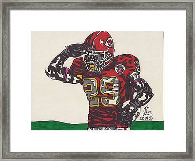 Eric Berry  Framed Print by Jeremiah Colley