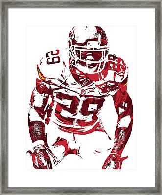 Framed Print featuring the mixed media Eric Berry Kansas City Chiefs Pixel Art 2 by Joe Hamilton
