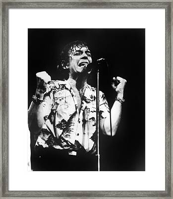 Eric Burdon In Concert Framed Print