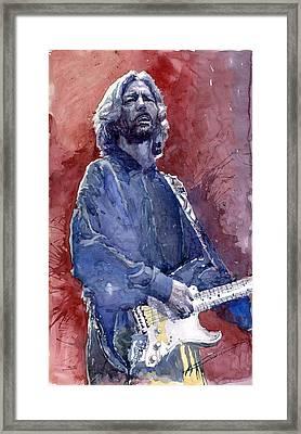 Eric Clapton 04 Framed Print