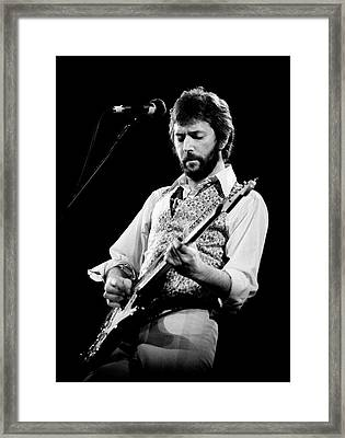 Framed Print featuring the photograph Eric Clapton 1977 Bo 2 by Chris Walter