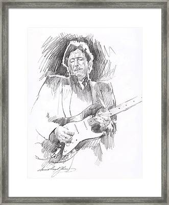Eric Clapton Blackie Framed Print by David Lloyd Glover
