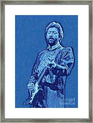 Eric Clapton Blue Pastel Framed Print by Pd