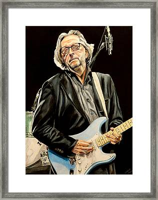 Eric Clapton Framed Print by Chris Benice