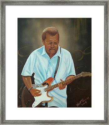 Eric Clapton Framed Print by Helen Thomas