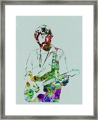 Eric Clapton Framed Print by Naxart Studio