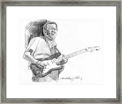 Eric Clapton Jam Framed Print by David Lloyd Glover