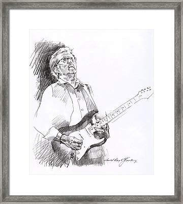 Eric Clapton Joy Framed Print by David Lloyd Glover
