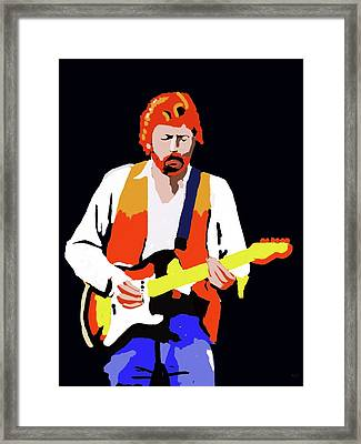 Eric Clapton Loose Sketch Framed Print by Keshava Shukla