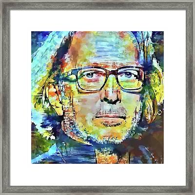 Eric Clapton Portrait Framed Print by Yury Malkov