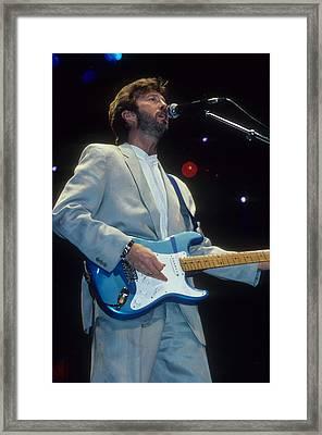 Eric Clapton Framed Print by Rich Fuscia