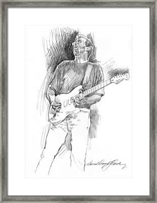 Eric Clapton Strat Framed Print