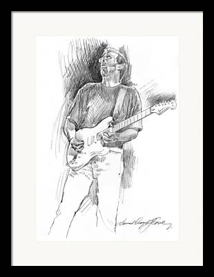 Fender Strat Drawings Framed Prints