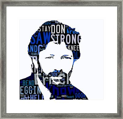 Eric Clapton Tears In Heaven Framed Print