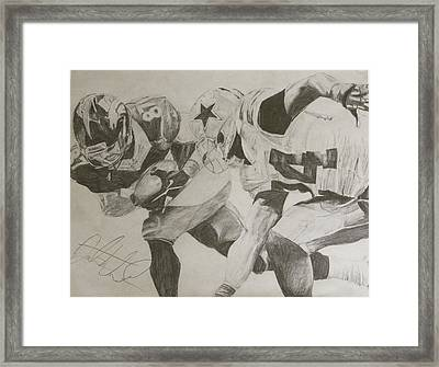 Eric Decker Framed Print by Justin Wade