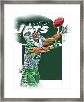 Eric Decker New York Jets Oil Art Framed Print by Joe Hamilton