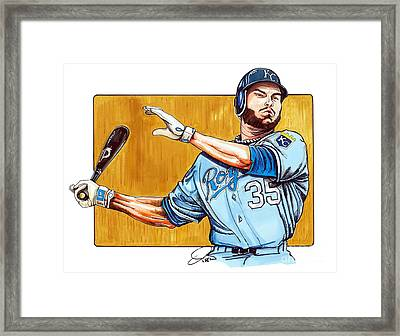 Eric Hosmer Of The Kansas City Royals Framed Print