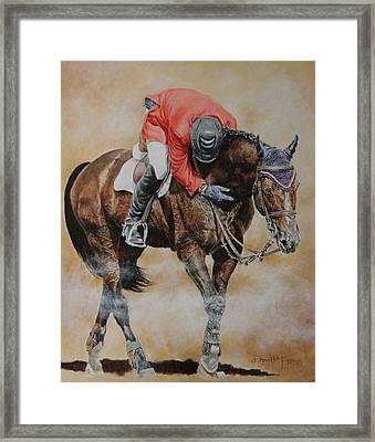 Eric Lamaze And Hickstead Framed Print