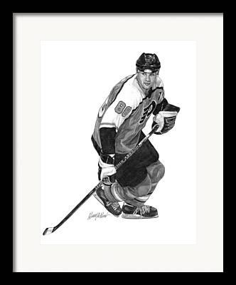 Nhl Drawings Framed Prints