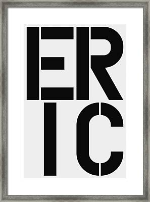 Eric Framed Print by Three Dots