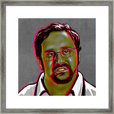 Eric Wareheim Framed Print by Fay Helfer