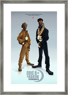 Ericb And Rakim Framed Print by Nelson Garcia