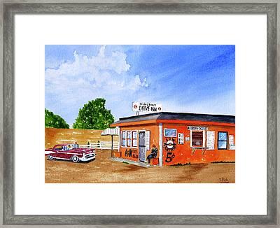 Ericksons Drive Inn Framed Print