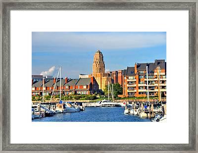 Erie Basin Marina Framed Print by Kathleen Struckle