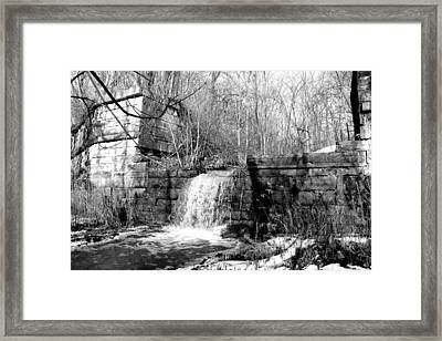 Erie Canal Framed Print by Rachel Minniear