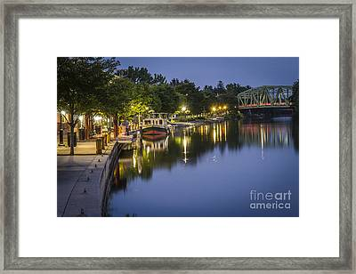Erie Canal Shoreline Framed Print