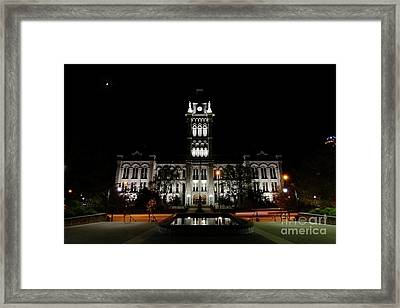 Erie County Hall At Night. Framed Print by Daniel J Ruggiero