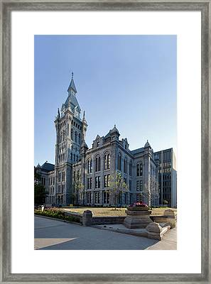 Erie County Hall Framed Print by Peter Chilelli