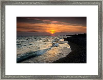 Erieau Sunset Framed Print by Cale Best