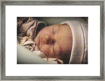 Erika Sleeping Framed Print by Tara Kearce