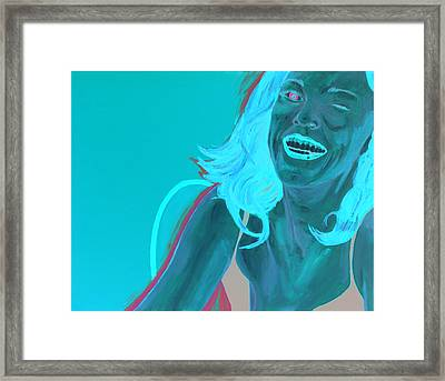Framed Print featuring the painting Erin Winking by Kevin Callahan