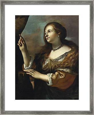 Erminia Princess Of Antioch Framed Print by Mattia Preti
