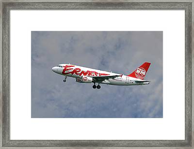 Ernest Airbus A319-111 Framed Print