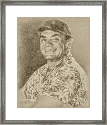 Ernest Borgnine Hollywood Actor Framed Print by Frank Falcon