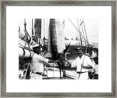 Ernest Hemingway 1899-1961, Posed Framed Print by Everett