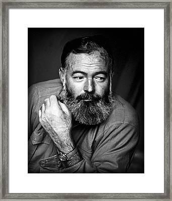 Ernest Hemingway 1944 Framed Print by Daniel Hagerman