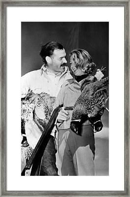 Ernest Hemingway And Martha Gellhorn Framed Print