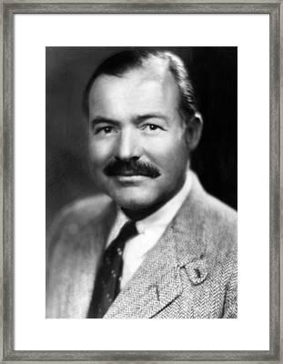 Ernest Hemingway, Ca. 1940 Framed Print by Everett