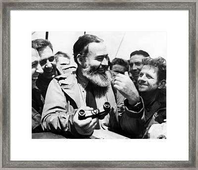 Ernest Hemingway Ca. 1959 Framed Print by Everett